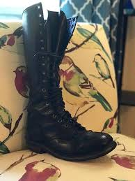 men s tall motorcycle riding boots 1970s black motorcycle boots 7 1 2 vintage men s lineman boots 7 5d