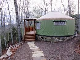 glamping nc staying at the sky ridge yurts near bryson city