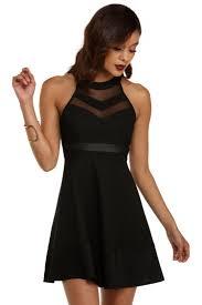 black skater dress black illusion skater dress illusions black and dress skirt