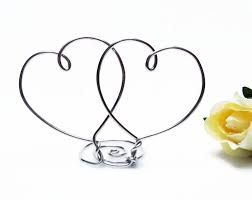 two hearts wire wedding cake topper silver gold brown black
