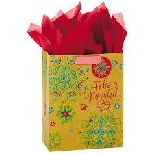 christmas paper bags feliz navidad language large christmas gift bag with