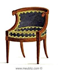 bureau style directoire fauteuil de bureau directoire en gondole à console d accotoirs en