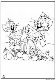 tom jerry coloring pages fruit