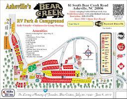 Map Of Asheville Nc Site Map U2013 Asheville U0027s Bear Creek Rv Park U0026 Campground