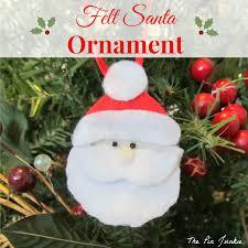felt santa ornaments santa