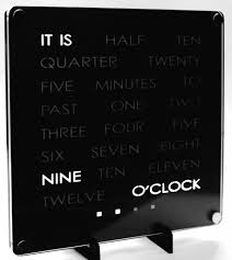 Cool Desk Clock by The Wordclock Grew Up 8 Steps With Pictures