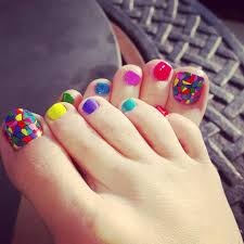easy polka dots toe nail art designs ideas trends 2014 colorful a