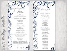 make your own wedding program 37 best wedding program templates images on wedding