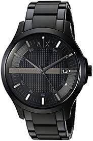 amazon black friday watch sale amazon com armani exchange men u0027s ax2104 black watch armani