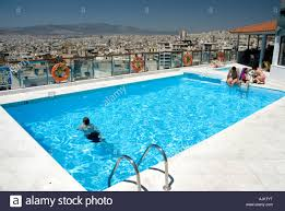 rooftop swimming pool with views of athens dorian inn hotel athens