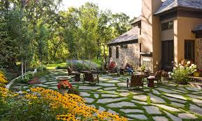 Paver Ideas For Backyard Patio Paver Ideas Landscape Traditional With Container Plants