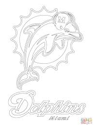 miami dolphins logo coloring free printable coloring pages