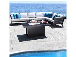 Coast Outdoor Furniture by Cabana Coast Apex 5 Piece Contemporary Outdoor Sectional