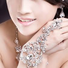wedding jewelry bracelet crystal images 2017 luxury vintage crystal flower bridal hand chain wedding jpg