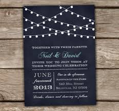 string lights wedding invitations printed or digital chalkboard
