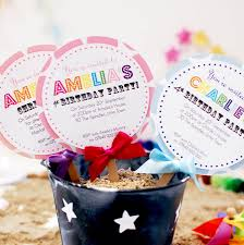 child u0027s lollipop birthday party invitation by made with love