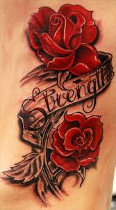 couple of red roses and grey cross tattoo designs photo 1 2017