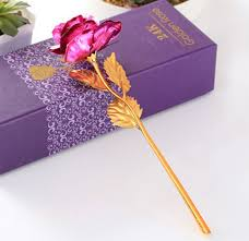 wedding gift gold 1 pcs birthday wedding gift gold plated lover s flower dipped