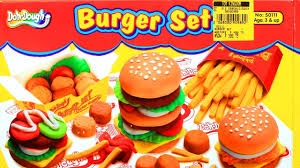 Kitchen Set Toys For Boys Doh Dough Burger Set Chicken Nuggets French Fries Play Dough