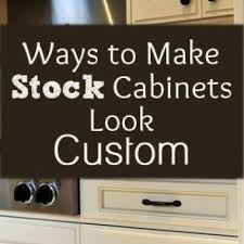 How To Makeover Kitchen Cabinets Make Stock Cabinets Look Custom Kitchen Makeover Tip Junkie