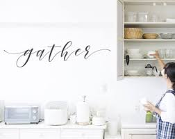 Dining Room Decals Kitchen Wall Decal Etsy