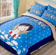Anime Bed Sheets One Piece Anime Queen Boys Bedding Set Quilt Cover With Fitted