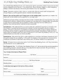 wedding planner contracts florist contract template unique planner fresh wedding