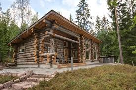 scandinavia small house bliss lakeside log cabin finland