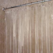 Shower Curtain Clear Interdesign Vinyl 4 8 Shower Curtain Liner Walmart