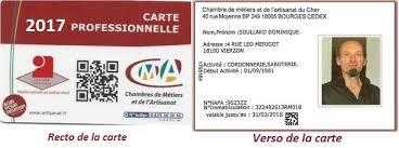 carte chambre des metiers fafcea financement formation non salariés fédération française