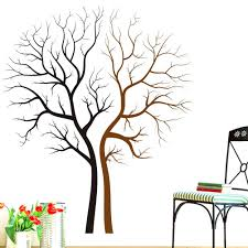 wall ideas sticker wall decor wall sticker decoration ideas kitchen stickers wall decor uk two naked trees wall art mural decal sticker living room bedroom background loving tree wall decor poster 85 x 100cm wall