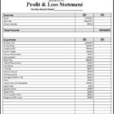 profit u0026 loss p u0026l statement sheet template example vlashed
