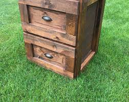 Rustic File Cabinet File Cabinet Etsy