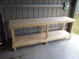 Work Benches With Storage Bench Home Made Work Bench Easy To Build Workbench Kit Homemade