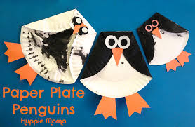three paper plate penguins our potluck family