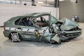 bugatti crash 1998 vs 2015 crash test fatality rate 4 times higher in older
