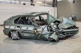 bugatti crash 1998 vs 2015 crash test fatality rate 4 times higher in older