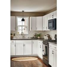 lowes white shaker cabinets shop now arcadia 27 in w x 30 in h x 12 in d white shaker