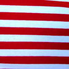christmas pattern knit fabric red and white stripes cotton lycra jersey knit fabric on order