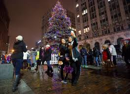 annual tree lighting in portland the portland press herald