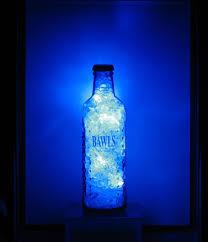 Blue Bottle Chandelier by Bawls Blue Crystal Led Light 7 Steps