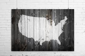 map of us states poster rustic painted barn wood us map print wall poster usa