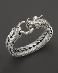 mens silver jewelry bracelet images John hardy men 39 s naga silver dragon head bracelet on fishtail jpg