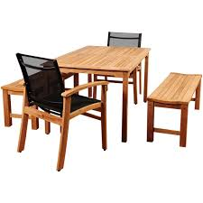 Sc Patio Furniture by Amazonia Gloucester 6 Person Sling Patio Dining Set With Teak