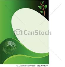 eps vector of a green business card template a green and white