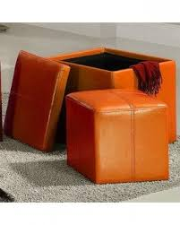 Ikat Storage Ottoman Orange Storage Ottomans Foter