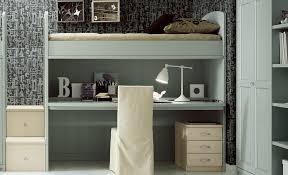 letto a con scrivania letto a soppalco con scrivania scorrevole in legno