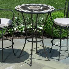 Pub Height Patio Table Small Peerless Table And Stools Bar Height Patio