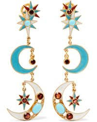 percossi papi earrings percossi papi gold plated enamel and multi earrings in