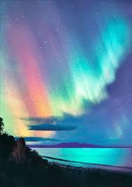 aurora borealis northern lights aurora borealis northern lights 3d motion postcard lenticular